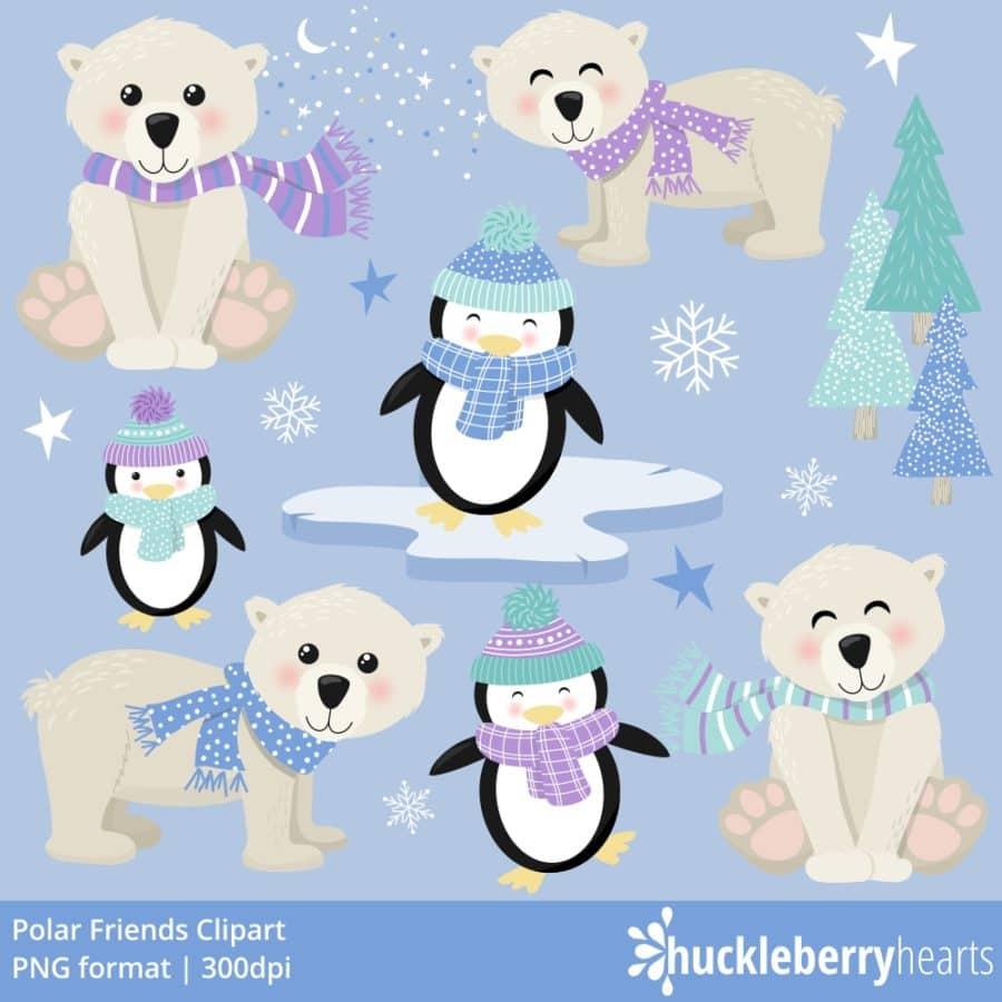 Polar Friends Clipart