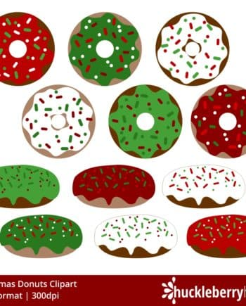 Christmas Donuts Clipart