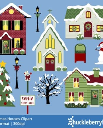 Christmas Houses Clipart