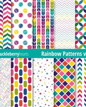 Bright and Colorful Rainbow Patterned Digital Paper. Seamless Repeatable Pattern images