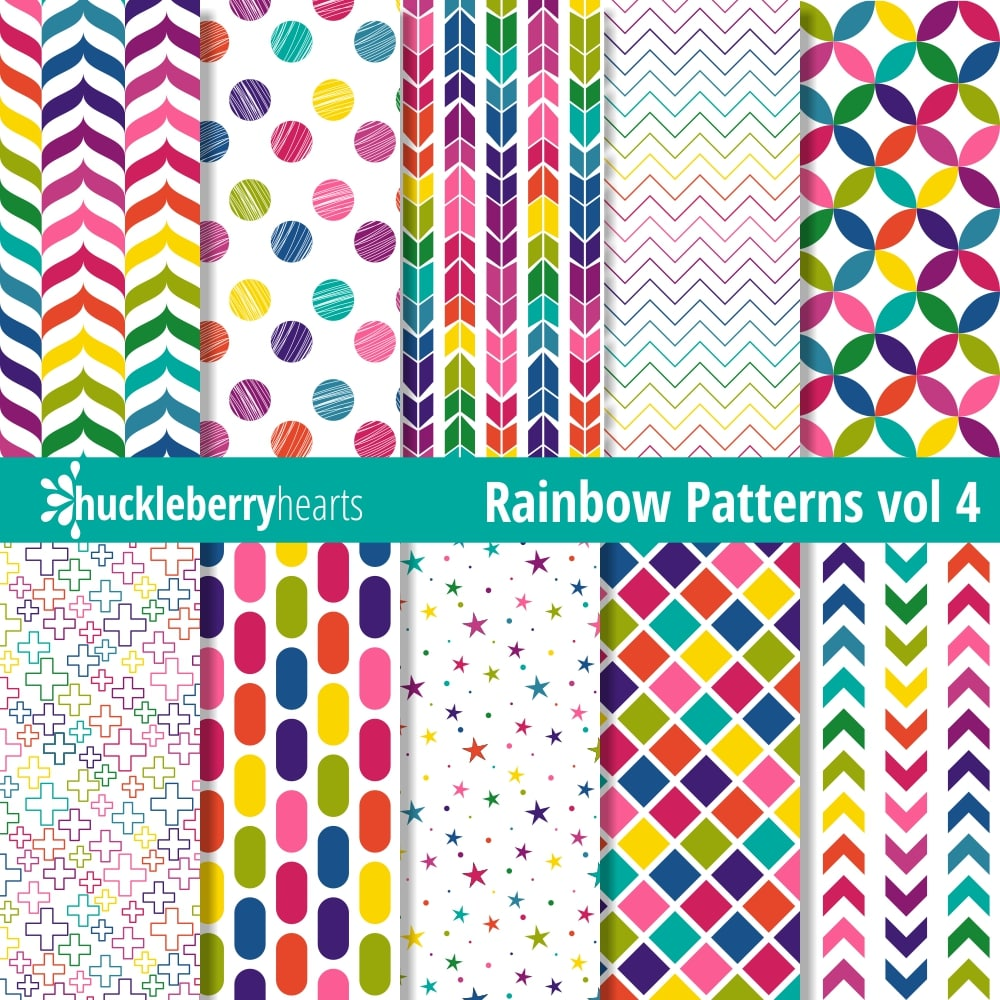 photograph relating to Printable Patterned Paper called Rainbow Styles Paper vol 4