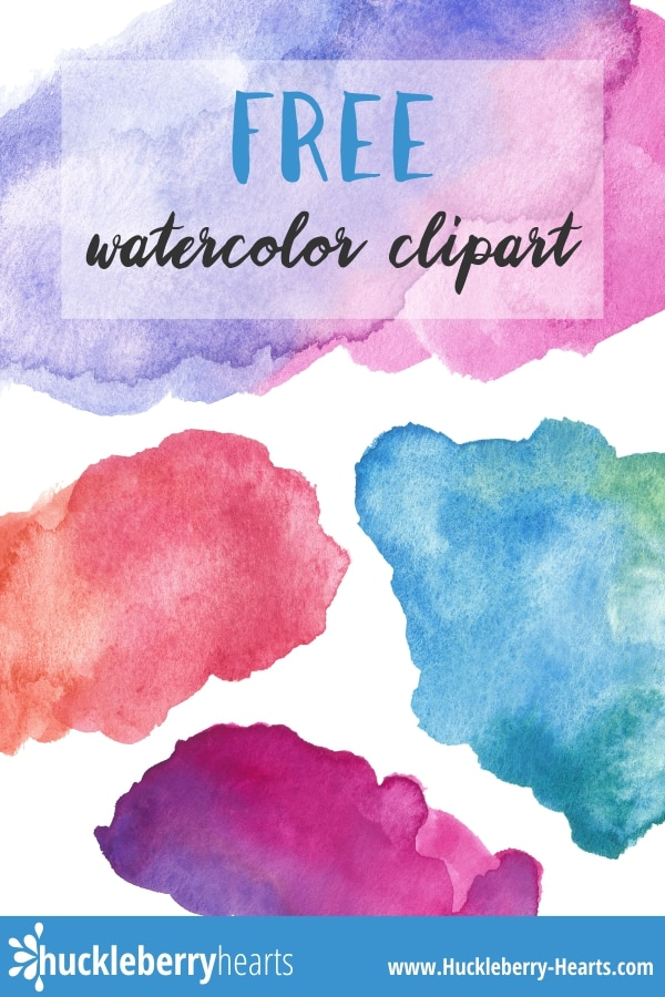 image regarding Watercolor Printable referred to as Free of charge Watercolor Clipart Printable Huckleberry Hearts