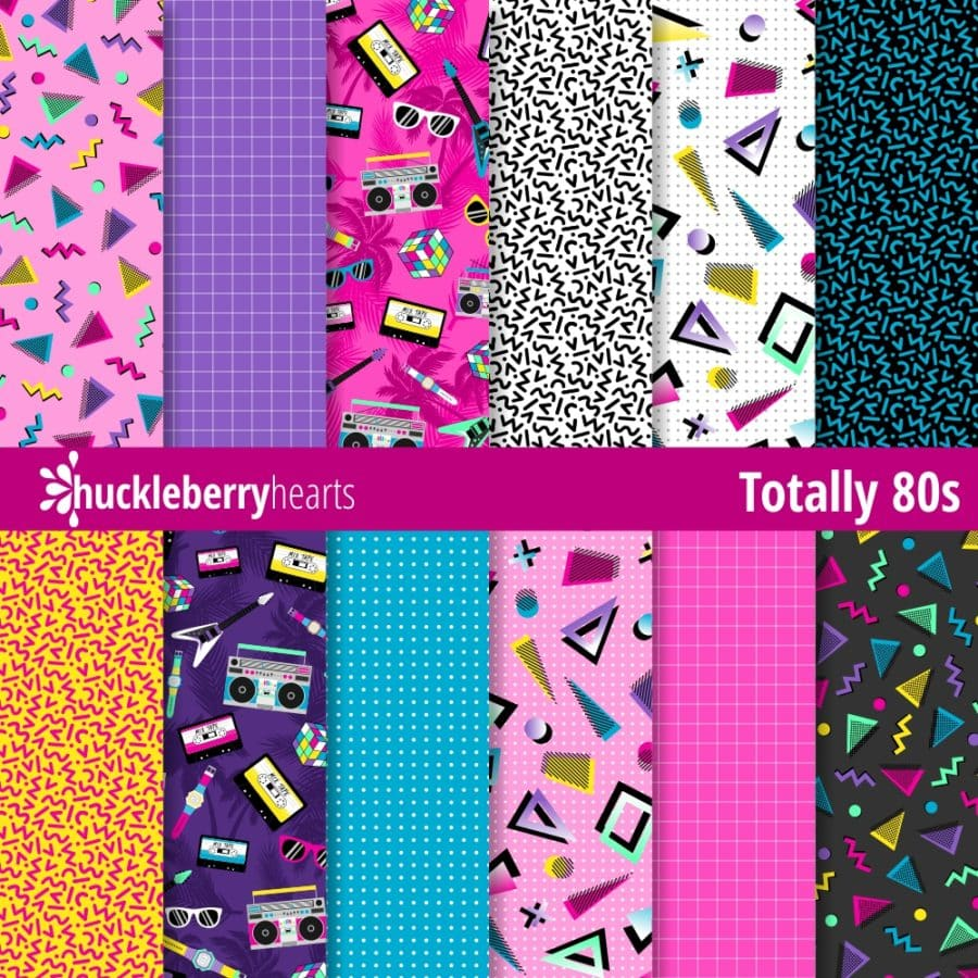 Totally 80s Digital Paper