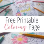 Free Printable Coloring Page for Summer