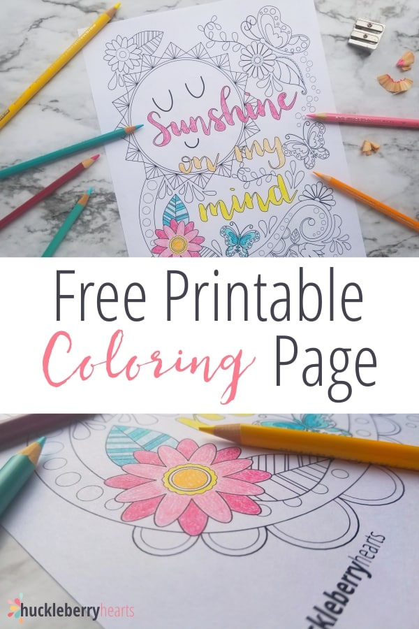 Free Coloring Page Printable for Summer