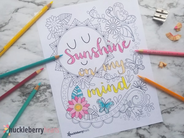 Sunshine on My Mind Free Printable