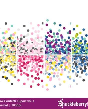 Rainbow Confetti Clipart