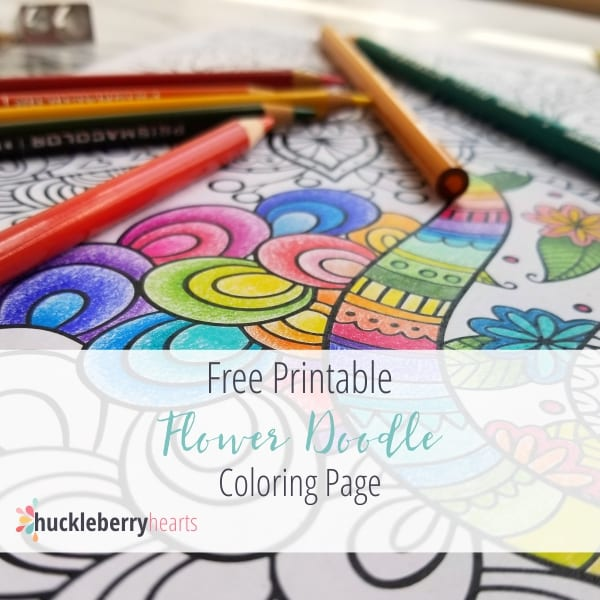 - Flower Doodle Free Printable Coloring Page For Adults Huckleberry Hearts