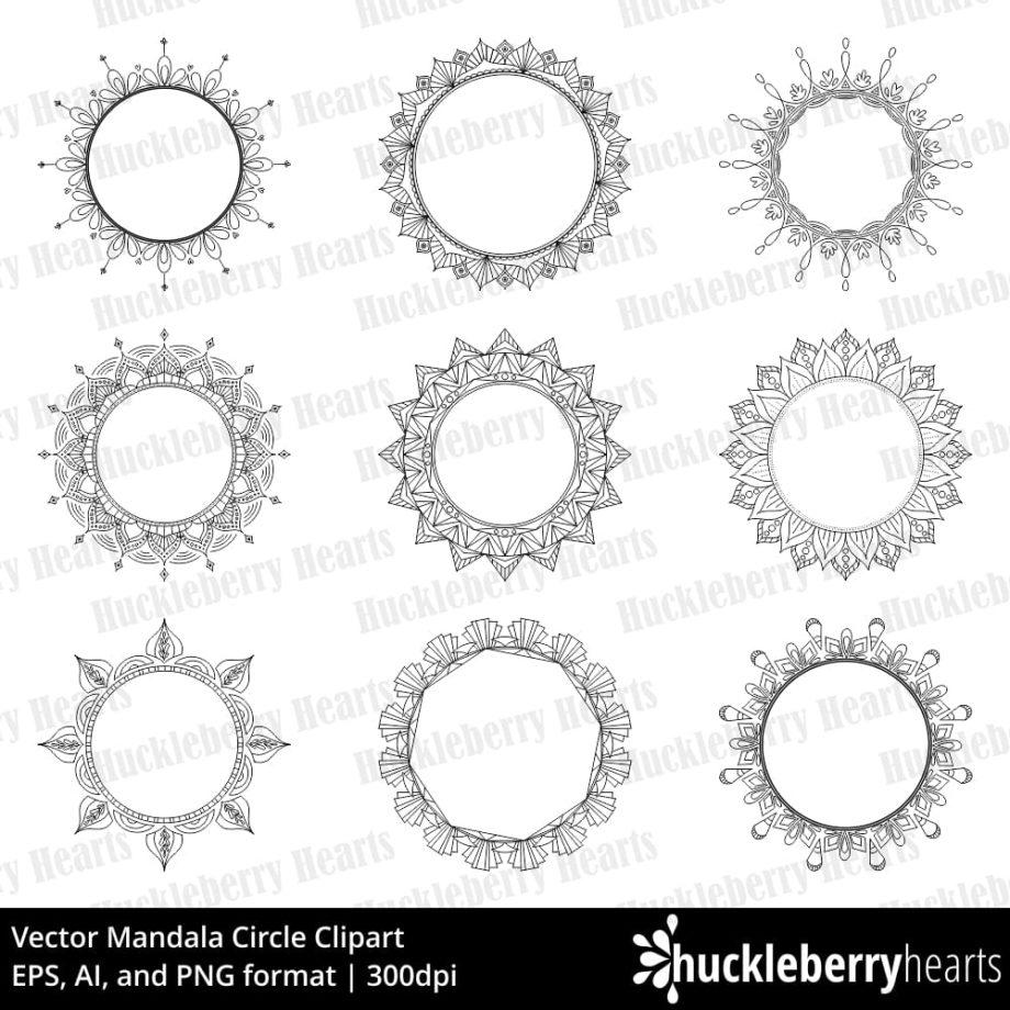 Vector Mandala Circles Clipart
