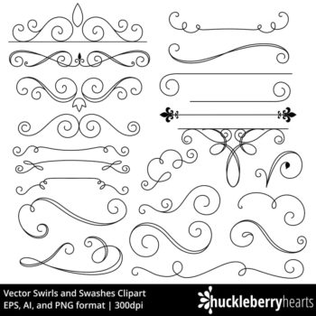 Vector Swirls and Swashes Clipart