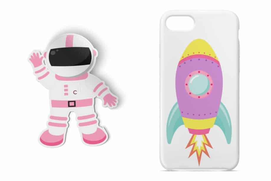 Girly Outer Space Clipart Sample 5