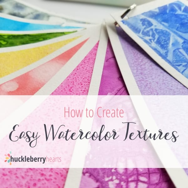 How To Create Easy Watercolor Textures