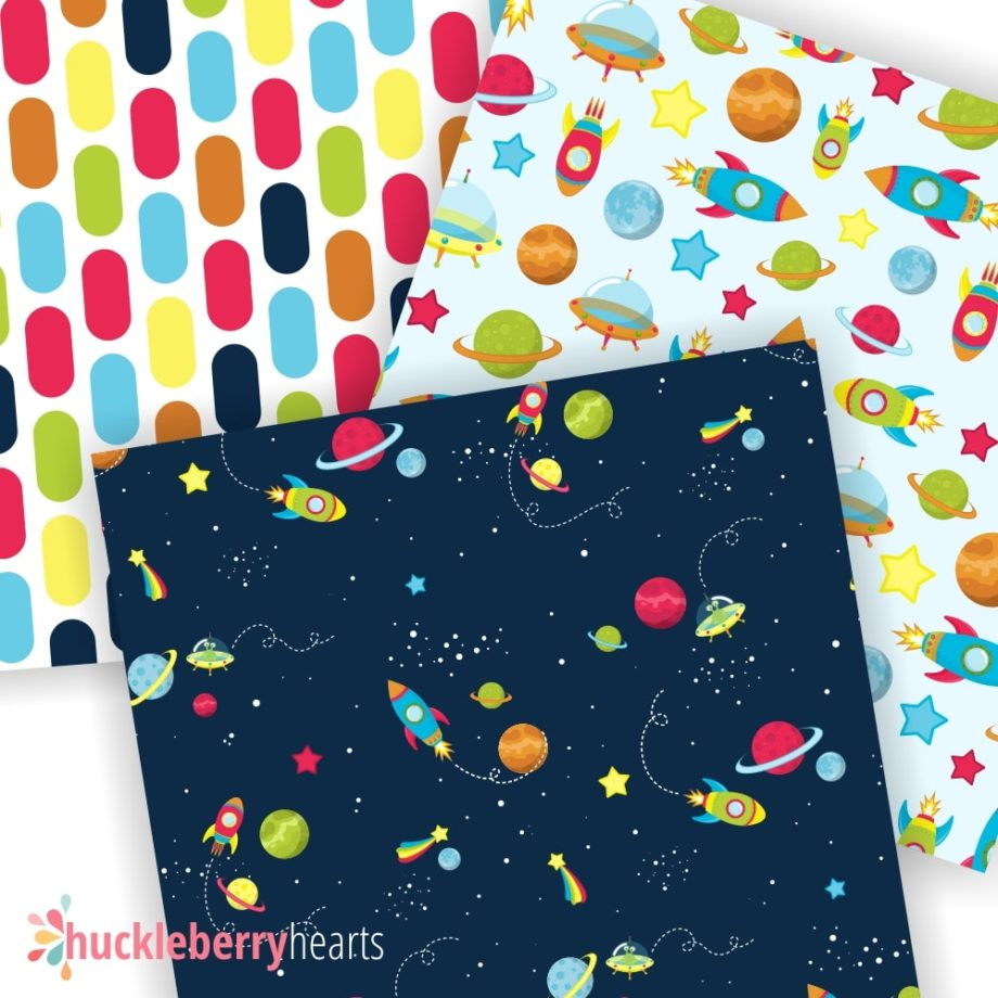 Outer Space Digital Scrapbook Paper