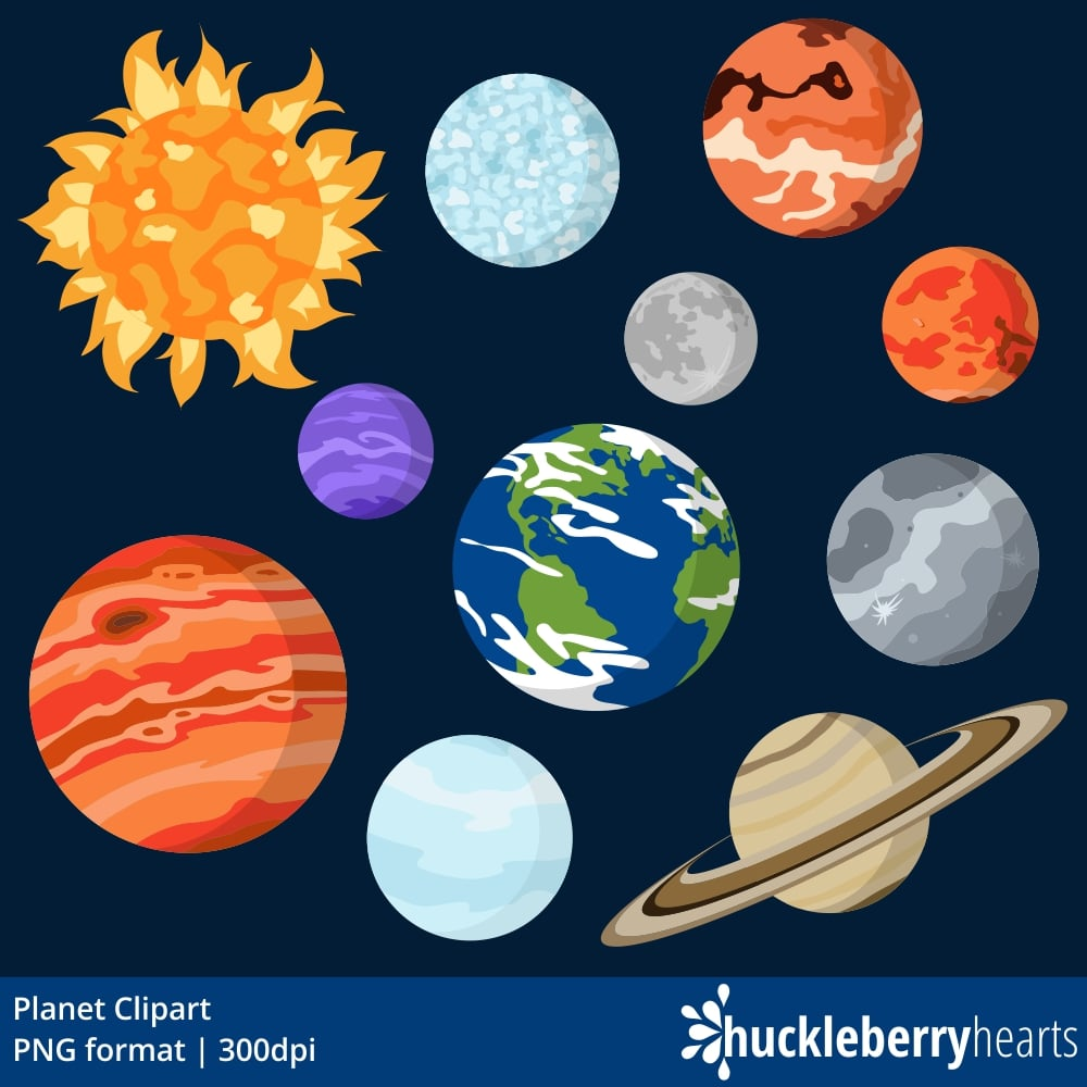 Planet Clipart | Huckleberry Hearts