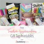 Back to School | Free Teacher Appreciation Gift Tags