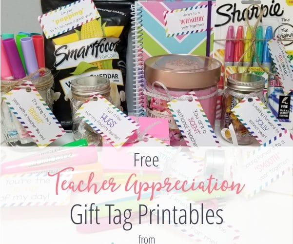 Teacher Appreciation Free Gift Tag Printables