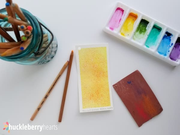 Using Watercolor Pencils and Sandpaper to Add Watercolor Texture