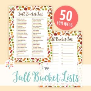 Fall Bucket List Ideas | Free Printable