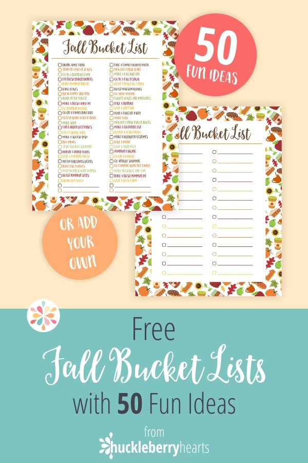 50 Free Fall Buckety List Ideas to do with your Family