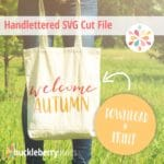 Free Fall SVG Cut File | Welcome Autumn Printable