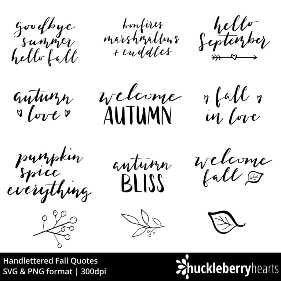 Handlettered Fall Quotes