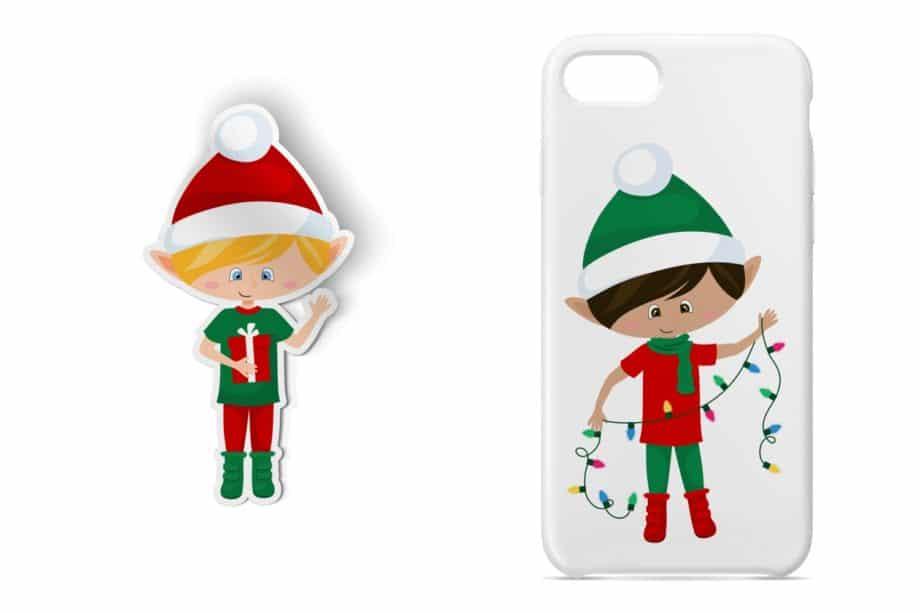 Christmas Elf Boys Clipart Sample 4