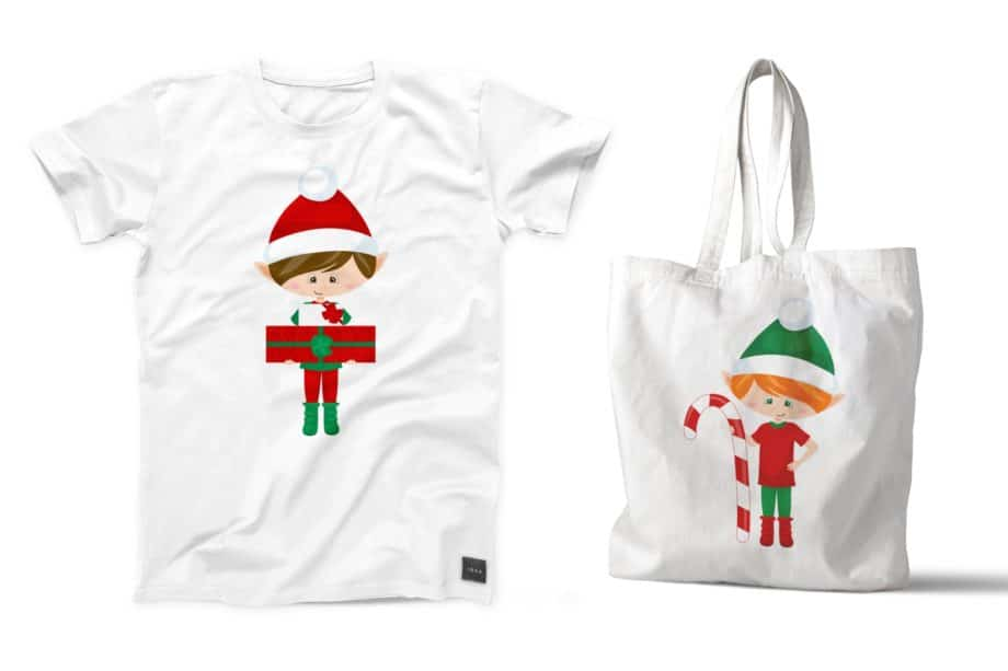 Christmas Elf Boys Clipart Sample 5