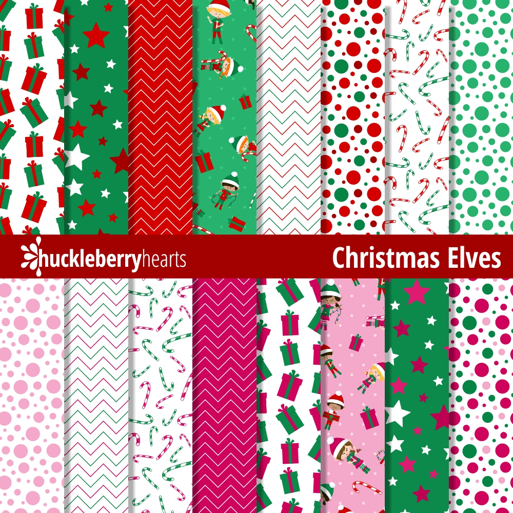 photograph relating to Christmas Printable Paper called Xmas Elves Electronic Paper