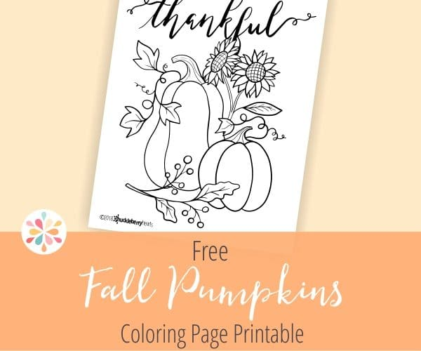 Free Fall Coloring Page Printable from Huckleberry Hearts
