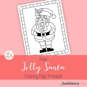 Jolly Santa | Free Christmas Coloring Sheet