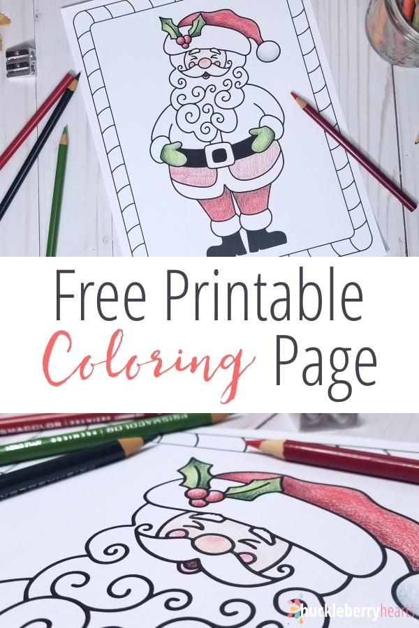 Free Santa Christmas Coloring Page