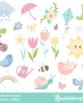 Flowers, Birds, Butterflies, Cloud, Boot, Sunshine, Bee, Snail clipart