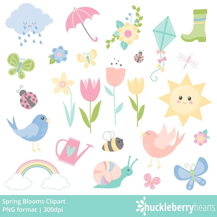 Flowers, Birds, Butterflies, Cloud, Boot, Sunshine, Bee, Snail clipart