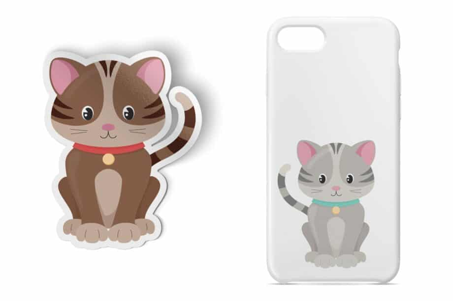 Cute Kitten Clipart Sample 4