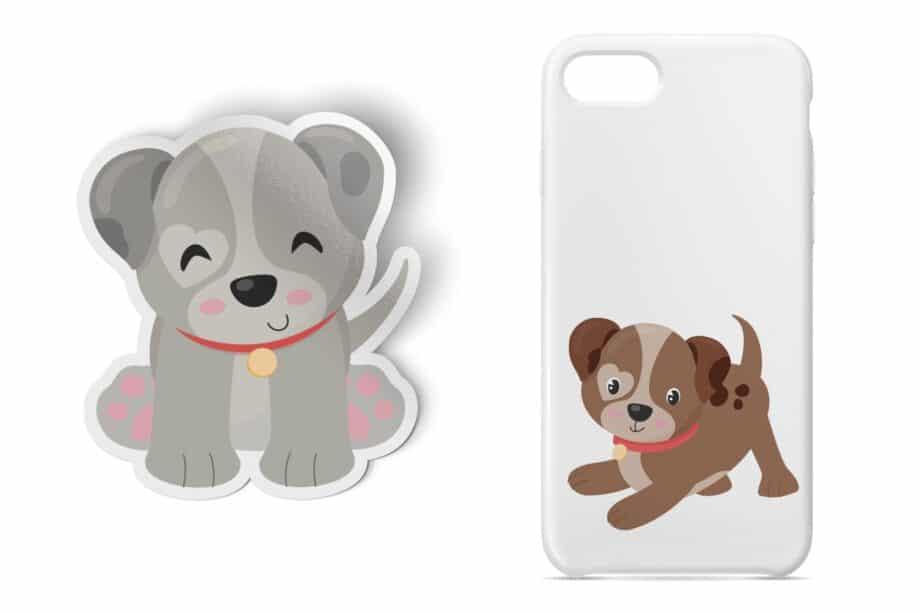 Cute Puppy Clipart Sample 4