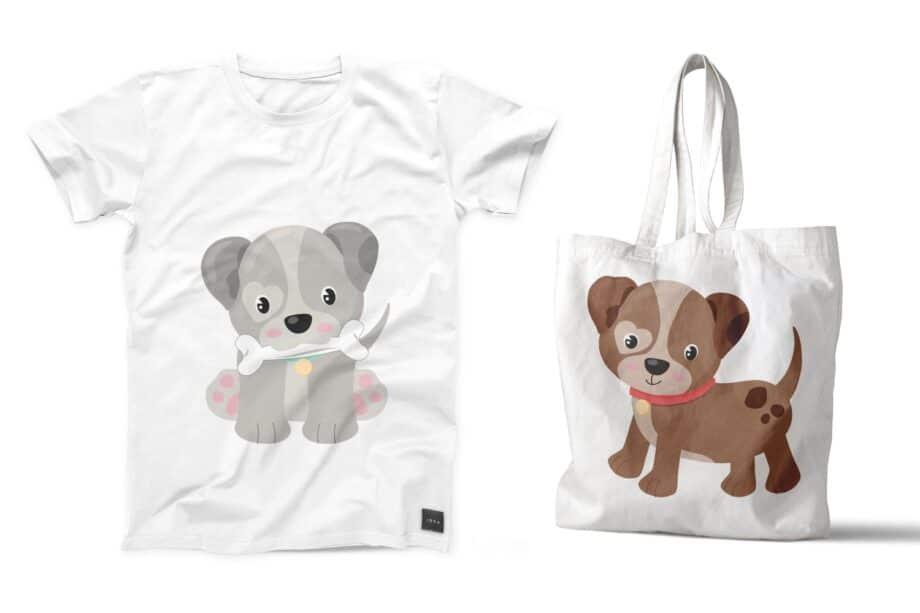 Cute Puppy Clipart Sample 5