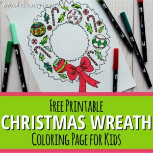 Festive Christmas Wreath Printable
