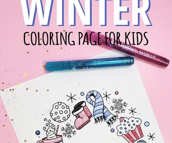 free printable winter coloring page for kids