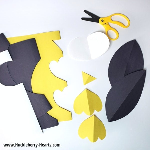 cutting out construction paper