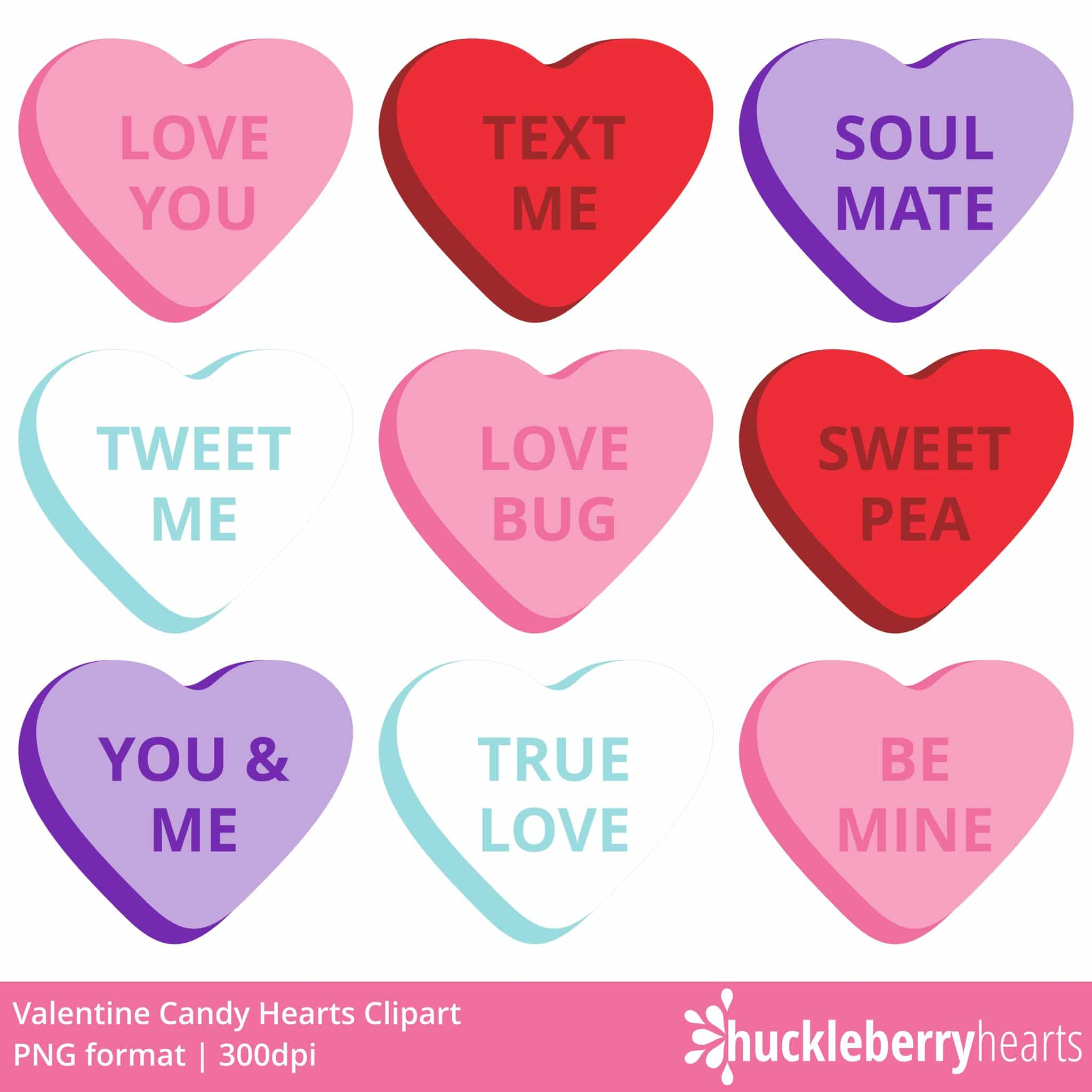 Candy Hearts Clipart