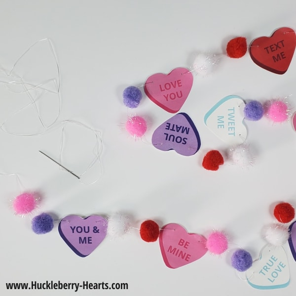 Threading Valentines Day Garland
