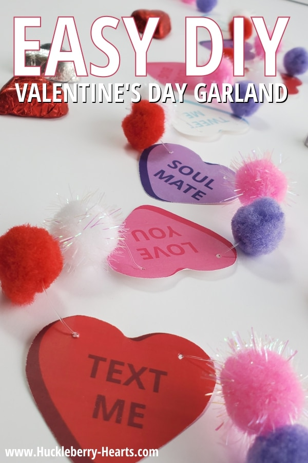 Easy and Fun Valentines Day Garland
