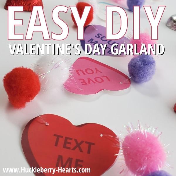 Easy Pom Pom Garland for Valentines Day