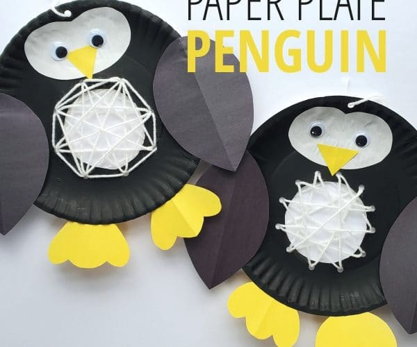 Penguin Paper Plate Crafts