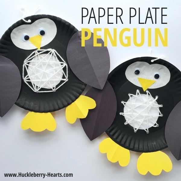 Penguin Paper Plate Crafts
