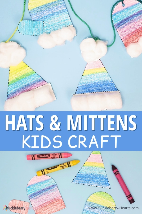 How to Make Winter Hats and Mittens Craft for Kids