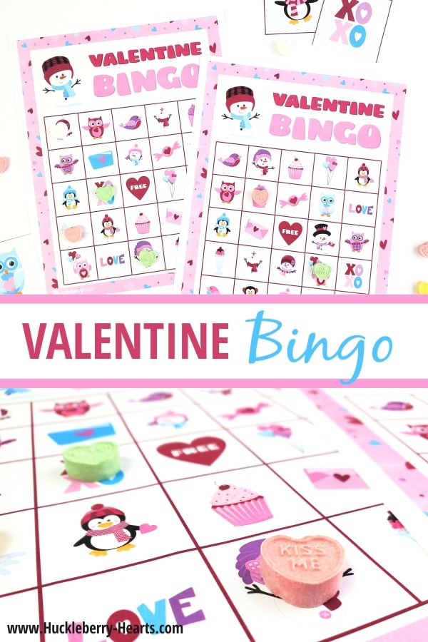 Printable Bingo Cards for Valentine's Day Parties