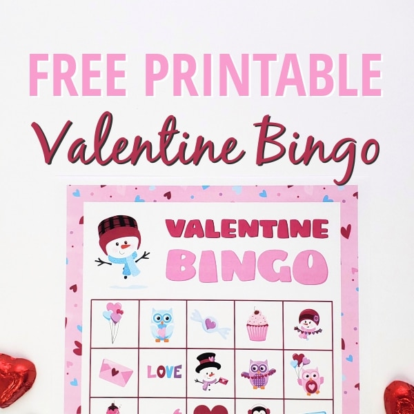 Free Valentine's Day Bingo Card Printables