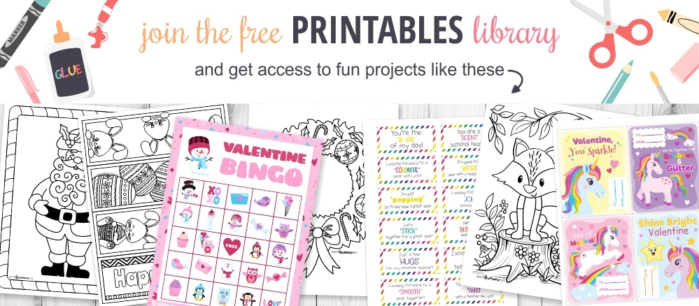 Sign up for the free printables library