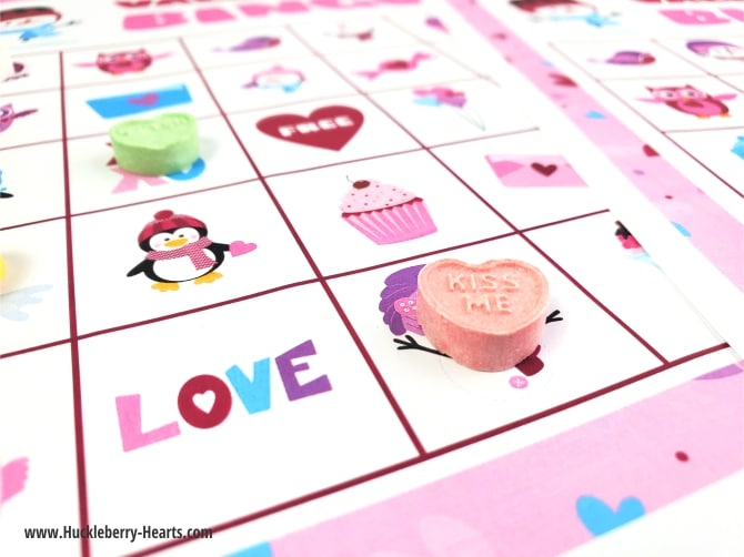 Valentine Candy and Bingo Card
